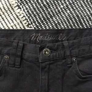 Madewell Shorts - Madewell High Rise Washed Black Roll Cuff Shorts